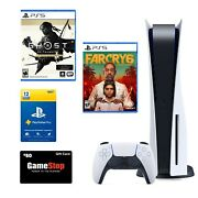 Sony Playstation Ps5 Disc/blu-ray Edition Console - White - Brand New Bundle