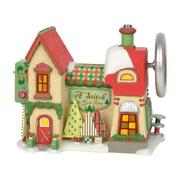 Dept 56 North Pole Village 2019 A Stitch In Yule Time 6003111 Nrfb Animated
