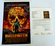 Rob Zombie Halloween Cast Signed 11x17 Poster Auto Tyler Mane And More Jsa Loa
