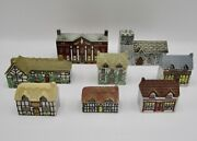 Wade Whimsey On Why Mini House Set 1 8 Buildings Village Complete England