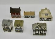 Wade Whimsey On Why Mini House Set 4 6 Buildings Village England Vintage