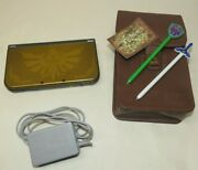 Nintendo New 3ds Xl Hyrule Gold Edition W/ The Legend Of Zelda Case And Charger