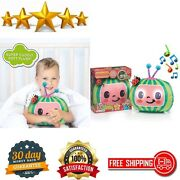 Wow Pods Stuff Cocomelon Toy Musical Sleep Soother Pre-school Learning Plush Toy