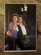 """Paul Young, Hand Signed 11x7 Autograph .""""live Aid"""". Rare Hard To Find."""