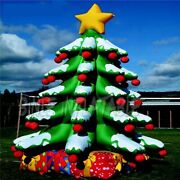 20ft Giant Inflatable Christmas Tree Yard Decor Airblown W/ Gift Led Air Blower