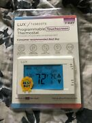 Lux Tx9600ts Touchscreen Programmable Thermostat - White