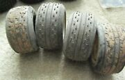 Lot Of 4 Used Rc Car Truck Team Associated 7870 Tires And Rims 3 3/4 Wide
