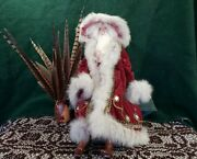 Stunning Vintage Handcrafted Santa Claus Father Christmas Porcelain Cloth Doll