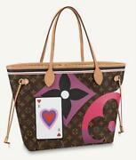 Louis Vuitton Game On Neverfull Mm Tote Bag Pouch M57452 Monogram Trump Auth New