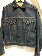 Leviand039s Denim Jacket 557 70505 Double Name Size 38 Navy Blue Condition Good Used