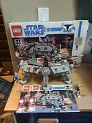 Lego Star Wars At-te 7675-99 Complete Used W/ Instructions Box And Most Minifigs