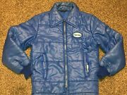 Protexall Vtg 1980s 70s Carrier Corp Air Conditioners Puffer Jacket Coat Patch S