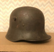 Wwi German Helmet W/ Complete 3 Pad Liner And Chinstrap Fittings V.g.c. Orig.