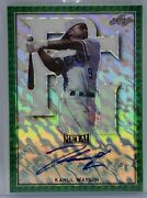 2020 Leaf Perfect Game Metal Kahlil Watson Green Marble Foil Autograph 1/1