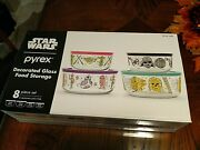 Pyrex Star Wars Baby Yoda 8 Piece Set Glass Food Storage Containers With Lids
