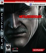Metal Gear Solid 4 Armes Of The Patriotes Playstation 3 Ps3 Greatest Hits Neuf