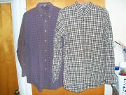 Menand039s Chaps Button Front Lot Of 2 Button L Large Long Sleeved Shirts