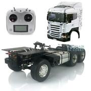 Lesu 1/14 4x4 Metal Chassis Diy Hercules Cabin Rc Tractor Truck I6s For Scania