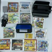 Nintendo 3ds Xl Blue/black With 11 Games, Chargers, And Case