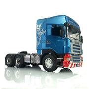 1/14 4x4 Metal Chassis Hercules Painted Cabin Rc Tractor Truck For Scania Tamiya