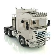 Lesu 1/14 6x6 Metal Chassis Chimney Bumper Hercules Tractor Truck For Scania