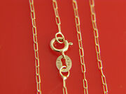 Pure 10k Gold Paperclip Necklace 1.2mm Real Italian Gold Chain
