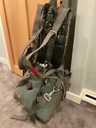 Vintage Us Navy 28' Rip Stop Seat Type Ejection Seat Parachute