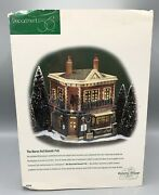 Dept 56 Dickens Village The Horse And Hounds Pub - Missing Scroll And Lamp