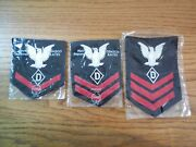 Rare Wwii Navy Po 1st 2nd And 3rd Class Dog Handler Rate Patches Nos Gemsco 1944