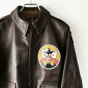 The Real Mccoyand039s Flight Jacket 20th Leather Size 38 Width 50cm Length 64cm