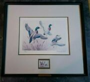 Ducks Unlimited - 1985 Signed Le Maynard Reece Duck Print And Du Stamp 280/5300