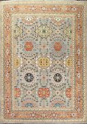 Vegetable Dye Ziegler Floral Traditional Oriental Area Rug Hand-knotted 9x12 Ft