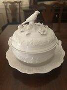 Mottahedeh White Porcelain Soup Tureen With Under Plate.