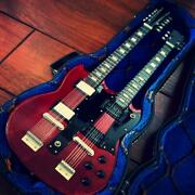 Mini Guitar Sg Double Neck With Hard Case