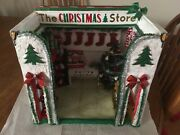 Christmas Store With Light Up Tree Ooak Doll House Miniature Room Box Artist Dmw