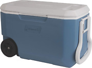 62 Quarts Camping Wheeled Chest Cooler Food Ice Storage Insulated Picnic Outdoor