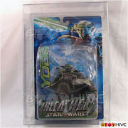 Star Wars Unleashed Yoda Afa Graded 90 Attack Of The Clones Packaging