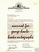 James M Caintermination Of His Mgm Contract1945 -autograph