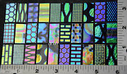 Coatings By Sandberg Dichroic Glass 30 Sampler 15 Blk And 15 Clear 1/2x 1 90 Coe