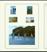 St. Vincent 1988 Tourism Set And Ss Master Proofs/folders