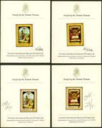 Anguilla 1969 Easter Paintings Proofs/printerand039s Cards-2