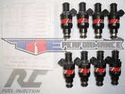 Rc 62lb Flowmatched Fuel Injectors Fit Chevy Ford Pontiac Bosch New 650 Set Of 8