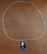 Fashion Jewelry Silver And Mother Of Pearl/jet Necklace From Mexico