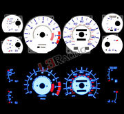 White Face Blue Glow Gauge For 86-92 Toyota Supra 3.0l Nt 8000 Rpm / 160 Mph