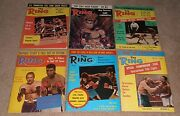 12- Vintage 1975 The Ring Boxing Magazine Lot A Full Year In Great Condition