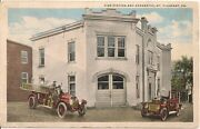 Fire Station And Apparatus Mt Pleasant Pa Postcard