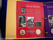 Australian Olympic Heroes Collection Of 12 Medallions In Original Folder