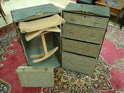 Vintage Wardrobe Steamer Travel Chest Case Trunk Hole Proof W/key Rare Rehome
