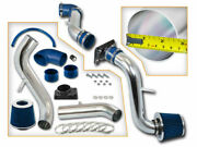 Blue Cold Induction Air Intake+dry Filter For Mitsubishi 99-03 Galant 2.4l 3.0l