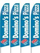 Dominoand039s Pizza Four 4 Swooper Feather Flag Banner Sign Kits With Hardware